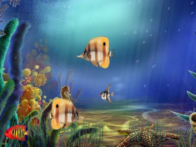 Animated Aquarium Screensaver Screen shot