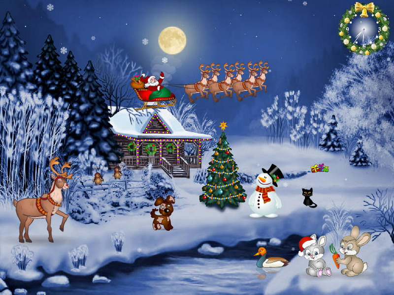 Free christmas screensaver christmas evening