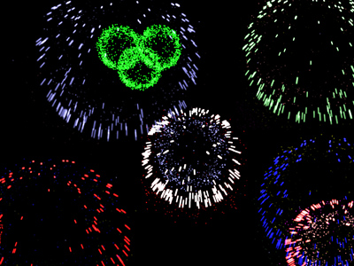 Screenshot of Fireworks 3D Screensaver 2.0