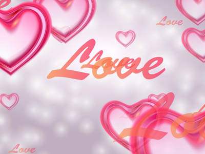 Stylish free animated screensaver created specially for Valentine