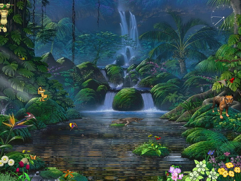 Free animated screensaver fascinating waterfalls