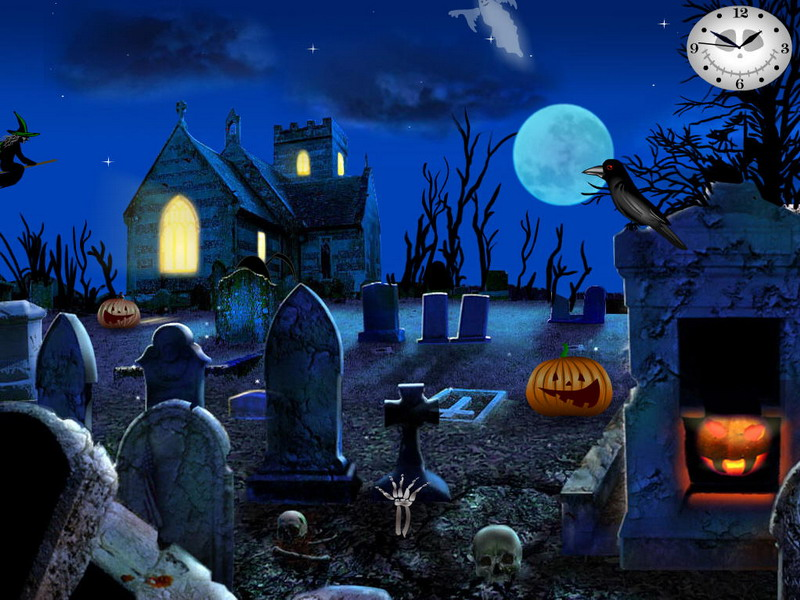 Graveyard party free halloween screensavers - Scary halloween screensavers animated ...