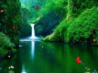 Click to view Green Waterfalls 1.0 screenshot