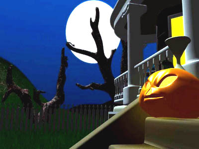 Dark Halloween Night 3D Screensaver