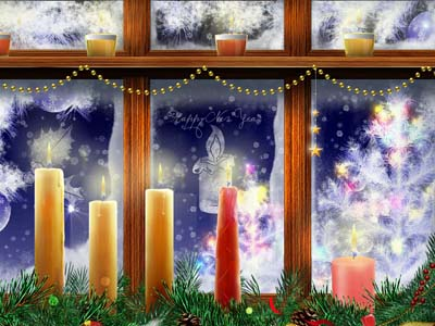Gorgeous screensaver New Year Window!