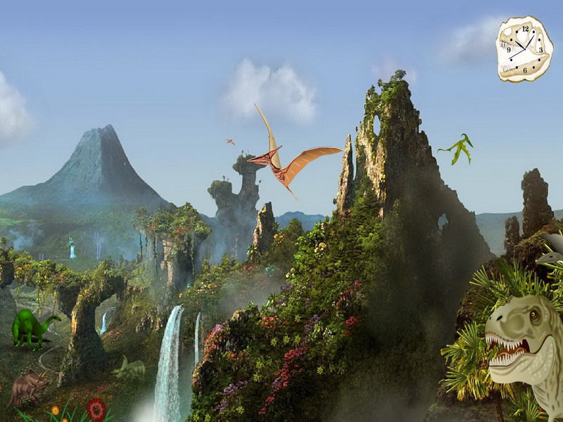 Torrent Prehistoric Valley Animated Wallpaper