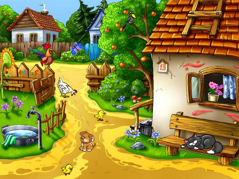 Village Screensaver Sunny Village Fullscreensavers Com