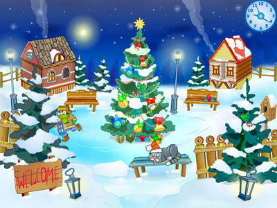 Christmas Yard Screensaver Screenshot