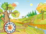 Autumn Clock Screensaver - Free Screensaver for Windows