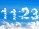 Blue Clouds Clock Screensaver - Free Screensaver for Windows