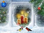 Christmas Candles - Holiday Screensavers
