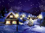Animierte Hintergrundbilder - Christmas Snowfall Animated Wallpaper