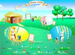 Easter Rabbits - Windows 8 Cartoon Screensavers