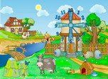 Farm Clock - Windows 8 Cartoon Screensavers