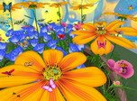 Nature Screensavers - Flowers And Butterflies