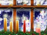 Holiday Screensavers - New Year Window