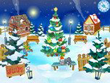 Christmas Screensavers - Christmas Yard Screensaver