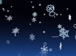 3D Snowflakes Screensaver - 3D Winter Snowflakes - Screenshot #1