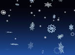 3D Snowflakes Screensaver - 3D Winter Snowflakes - Screenshot #2