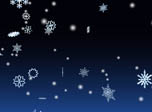 3D Snowflakes Screensaver - 3D Winter Snowflakes - Screenshot #3