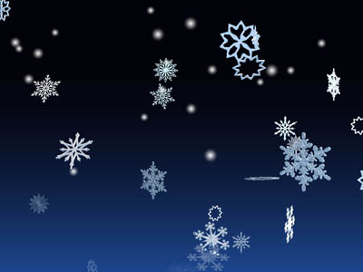 Screenshot of 3D Winter Snowflakes Screensaver 2.0
