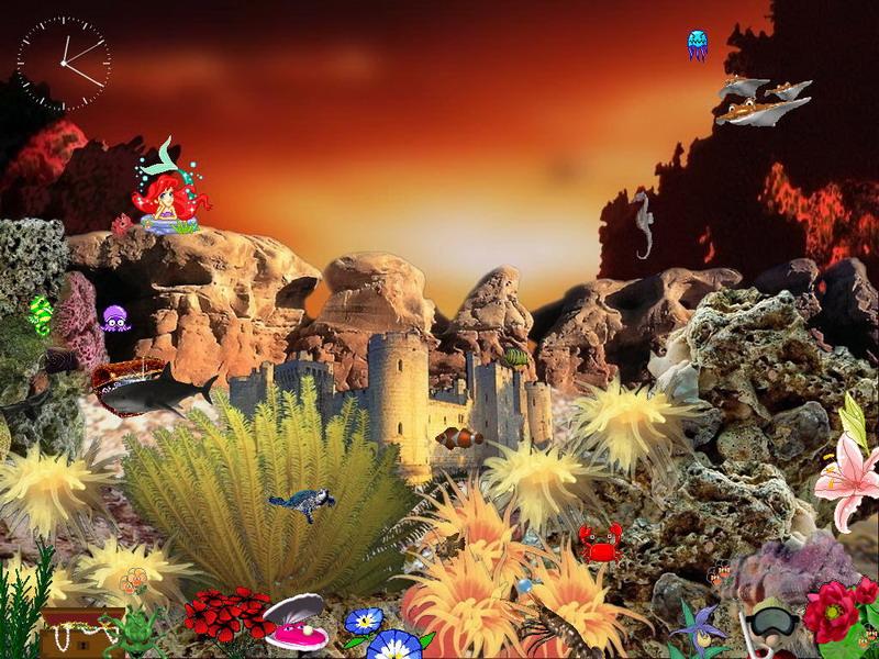 Animated Aquaworld Screensaver For Windows Free Aquarium Screensaver