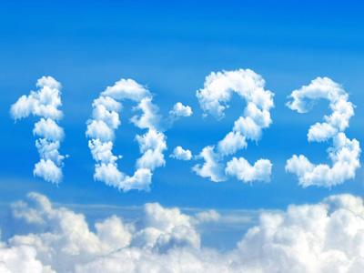 Blue Clouds Clock Screensaver