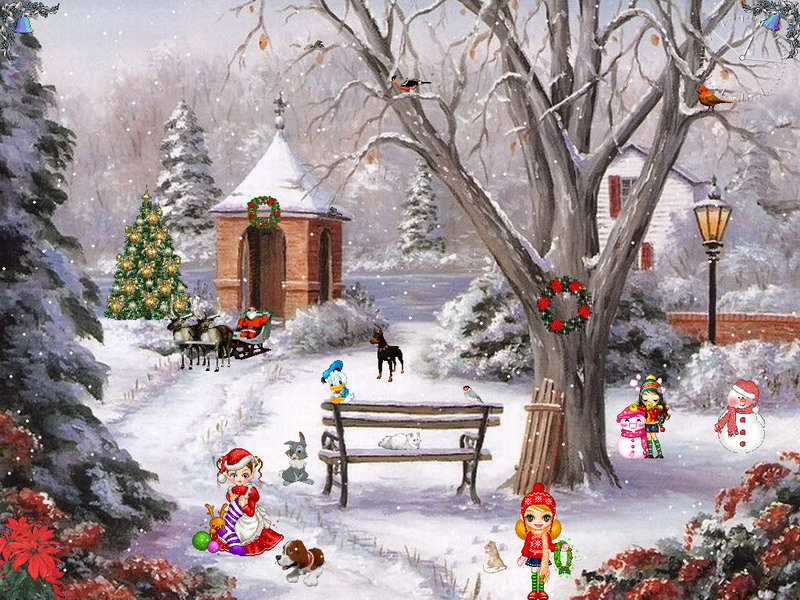 Christmas Paradise Screensaver For Windows Christmas