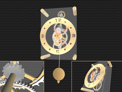 3D Clock mechanism realistic screensaver.