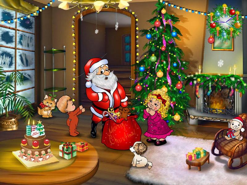 Free Christmas Screensavers Christmas Entourage Screenshot 1