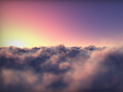 Flying Clouds Screensaver full screenshot