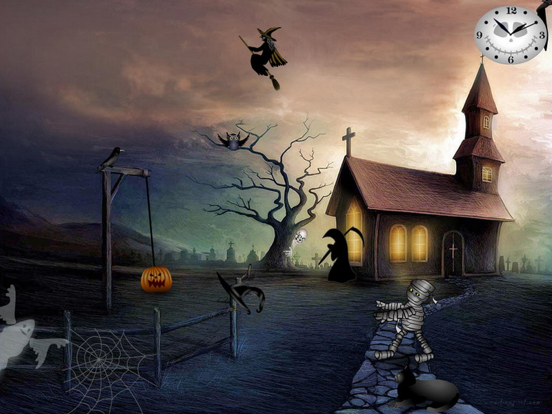 free halloween screensavers graveyard party free halloween screensavers graveyard party - Halloween Screensavers Animated