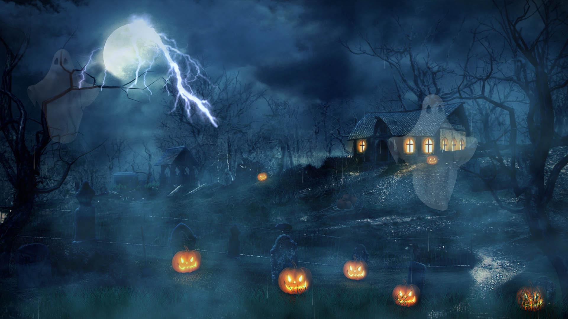Free Halloween Screensaver - Halloween Dusk Screensaver ...