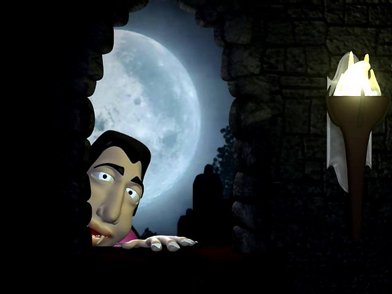 free holiday screensaver dark halloween night 3d - Halloween Screensavers Animated