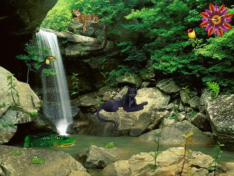 Jungle Falls - Jungle Screensaver