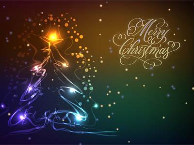 Christmas Tree Screensaver with neon lights.