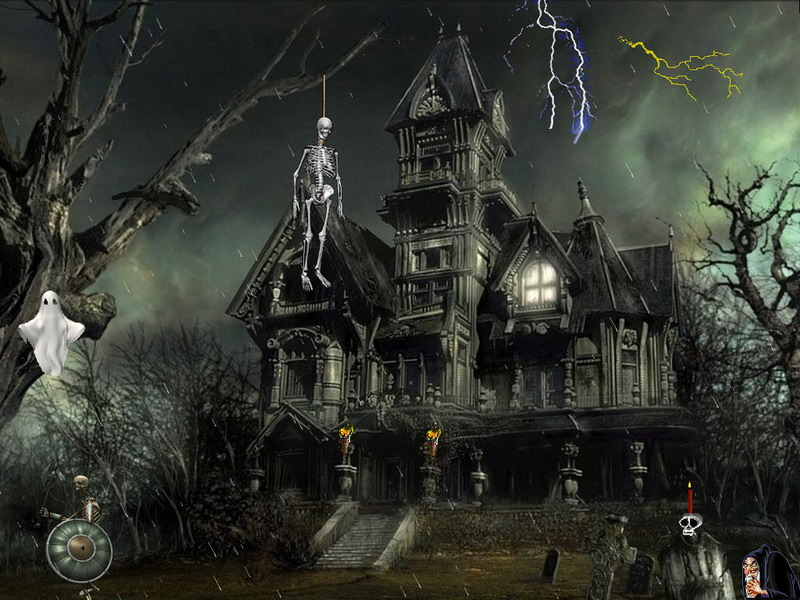 Horror of the night screensaver free holiday screensaver - Scary halloween screensavers animated ...