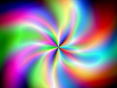 Screenshot of Plasma Flower Screensaver