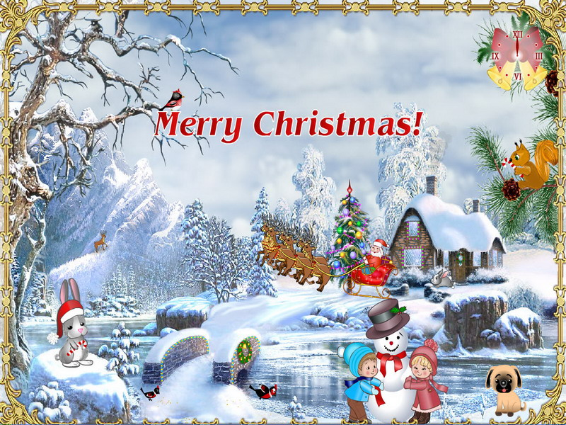 Christmas suite screensaver christmas screensaver - Anime merry christmas wallpaper ...
