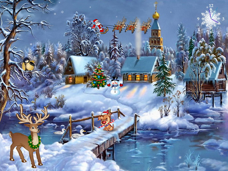 Free Animated Christmas Screensavers