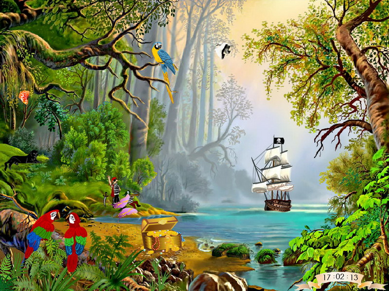 Treasures Island - Free Screen Savers