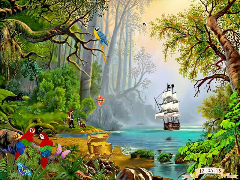 Treasures Island Free Screen Savers Fullscreensavers Com