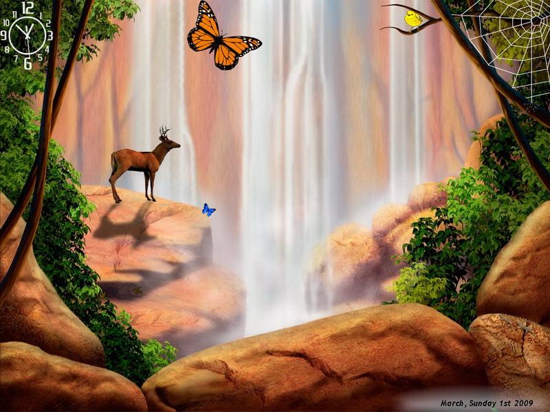 Waterfalls Symphony Screensaver For Windows